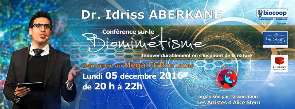 Conférence Dr Idriss Aberkane sur le Biomimétisme - Montpellier