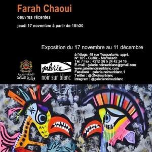 Vernissage Farah Chaoui -  Marrakech