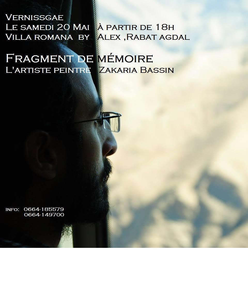 Zakaria Bassin : Fragment de mémoire - rabat