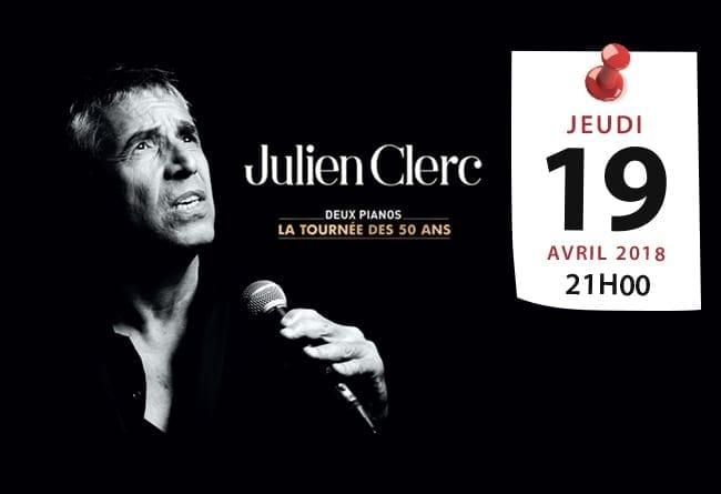 JULIEN CLERC « La tournée des 50 ans » - Casablanca