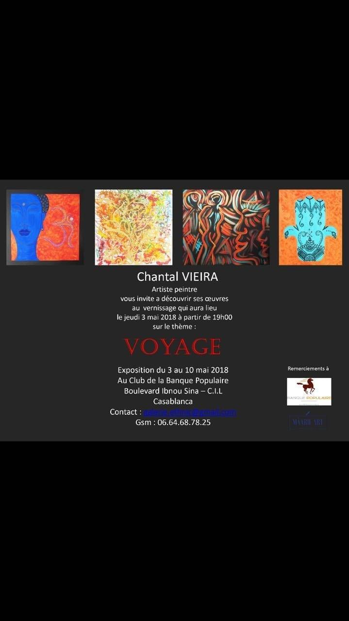 Vernissage Chantal Vieira - Casablanca
