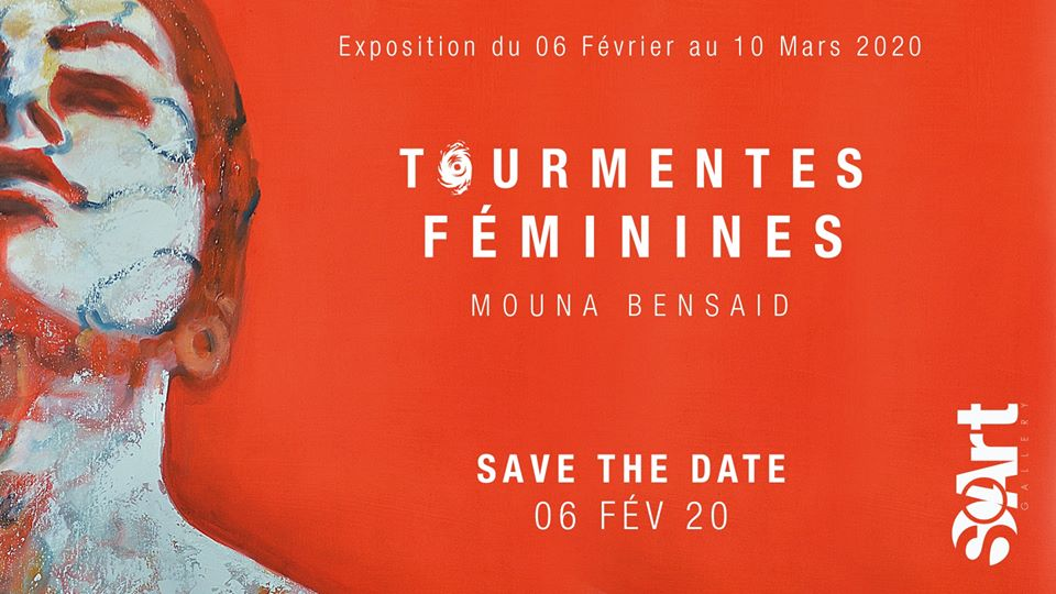 Vernissage de l'Exposition Tourmentes Féminines de Mouna Bensaid - Casablanca
