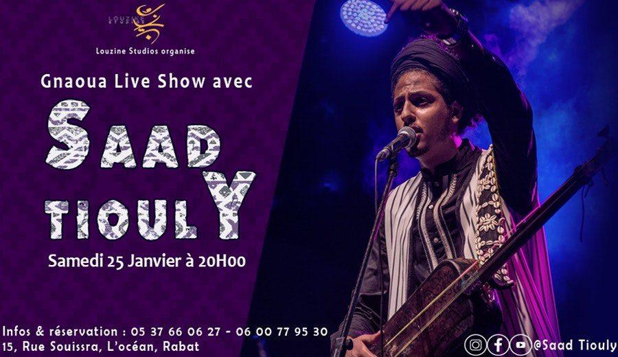 SAAD TIOULY en concert à Louzine Studios Rabat - Rabat