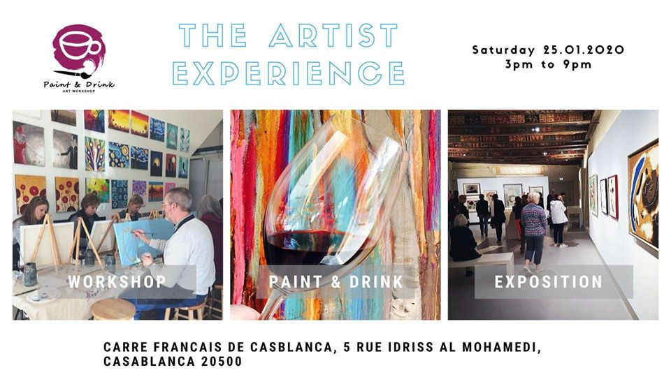 "Paint & Drink ""The Artist Experience"" - Casablanca"