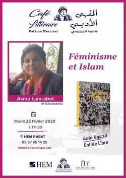 Café Littéraire avec Asma Lamrabet autour de son ouvrage : Féminisme et Islam - Rabat