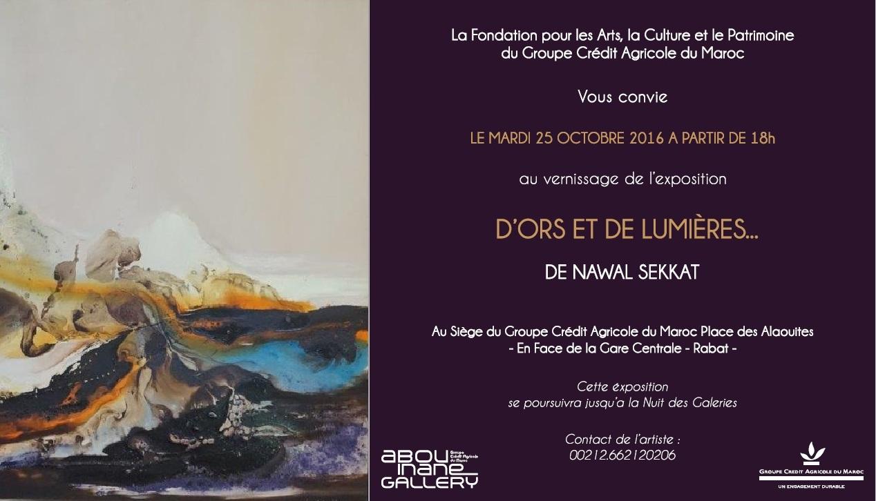 Exposition de Nawal Sekkat au Crédit Agricole (Rabat)