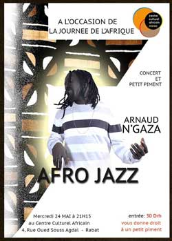 Afro Jazz avec Arnaud N'Gaza - Rabat