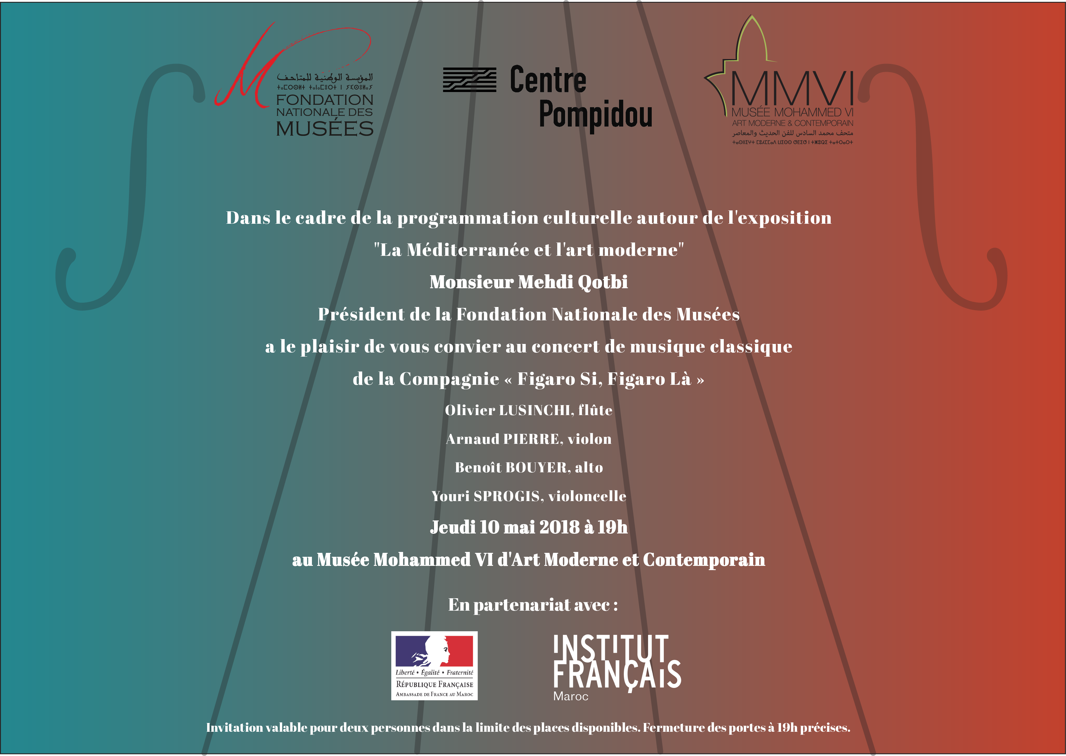 Concert et Exposition « la Méditerrané et l'art moderne » - Rabat